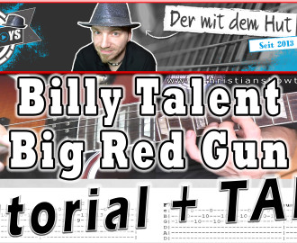 billy talent big red gun guitar gitarre tutorial lesson how to play video cover lyrics christianshowtoplays youtube