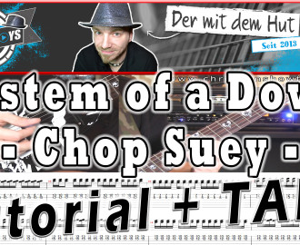 system of a down chop suey guitar gitarre tutorial lesson how to play video cover lyrics christianshowtoplays youtube
